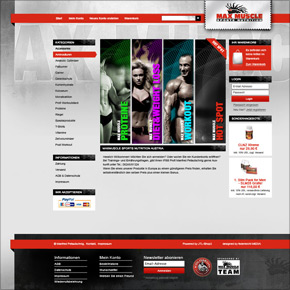 Webshop Max Muscle